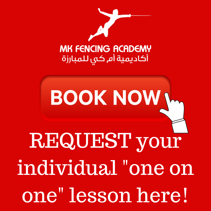 INDIVIDUAL 'ONE ON ONE' FENCING LESSONS